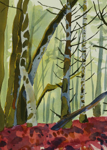 Landscapes Painted Oil Forest Scenery Oil Painting Interior Decoration (LH411000) pictures & photos