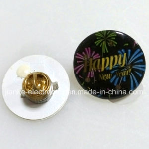 Factory Wholesale Cheap LED Flashing Pin Badges with Logo Printed (3569) pictures & photos