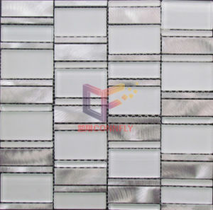 Wave Glass Mix Colored Aluminium Mosaic (CFA59) pictures & photos