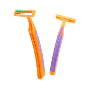 Twin Blade Stainless Steel Disposable Shaving Razor pictures & photos