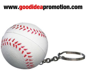 PU Baseball Keychain with Logo Printing pictures & photos
