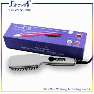 2015 Professional High Temperature Control 2 in 1 Ionic Hair Straightener Brush&Hair Curler pictures & photos