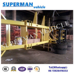 20ft 2 Axle Skeleton Container Frame Skeleton Semi-Trailer pictures & photos