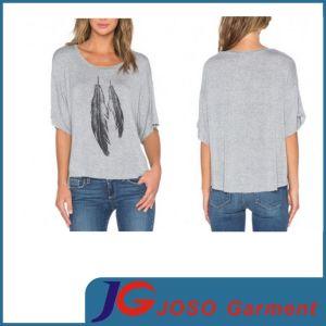 Women Online Sale T Shirt Loose Short Sleeve Top (JS9018) pictures & photos