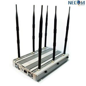 6antenna Cellphone, Wi-Fi, Lojack, GPS Jammer/Blocker; 90W Stationary Mobile Jammer pictures & photos