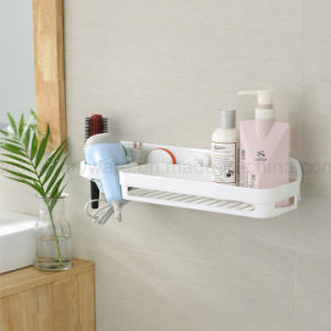Silicone Combined Bathroom Rack for Hair Dryer and Shampoo