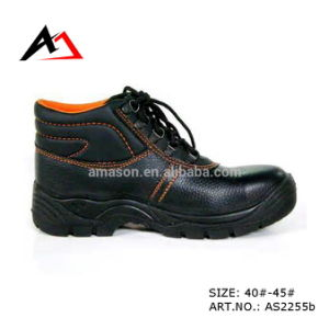 Leather Safety Shoes Working Rubber Women Shoes (AKAS2255b) pictures & photos