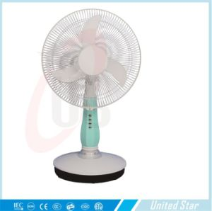 16 Inch DC/Rechargeable Table Fan with 3 Speed (USDC-403) pictures & photos