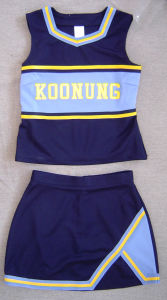 Cheerleader Uniform: Shell Top and Skirt pictures & photos