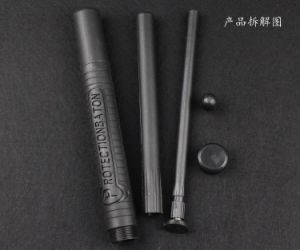 Three Section Telescopic PC Rubber Baton/High Quality Baton pictures & photos