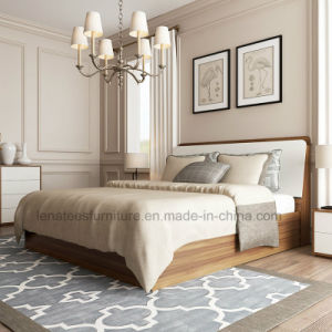 Bj03A Contemporary Melamine Bedroom Furniture Hotel Furniture Wood Bed pictures & photos