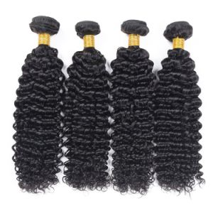 Quality Brazilian Hair Deep Curly 18inches Black Color pictures & photos