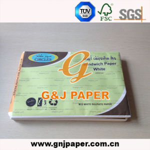 17-23GSM White Sandwich Paper in Sheet in Carton Packing pictures & photos