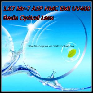 1.67 Mr-7 Asp Hmc EMI UV400 Resin Optical Lens pictures & photos