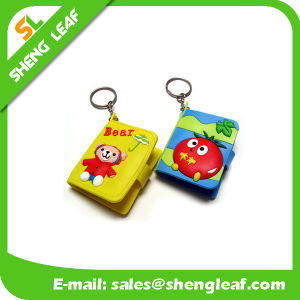 Cartoon Rubber Cover Soft PVC Key Chain with Mini Notebook pictures & photos