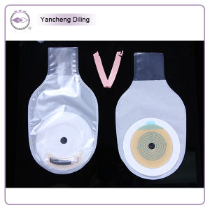 Disposable One-Piece Opened Type Colostomy Bag, Add PE Micropore Film