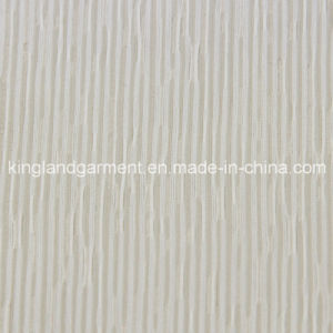 Polyester Inherently Flame Retardant Jacquard White Striped Woven Fireproof Curtain/Sofa Fabric pictures & photos
