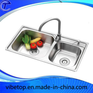 Fashion New Design Corner Kitchen Sinks Stainless Steel 304 pictures & photos
