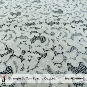 Cotton Eyelet Thick Lace Fabric (M3400-G) pictures & photos