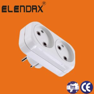 German Standard 2-Way AC Adapters with Earth and 4.8 Round Pin Plug (P8812) pictures & photos