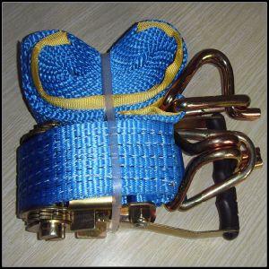 Cheap Ratchet Straps 25mm Double J Hook Tie Down pictures & photos