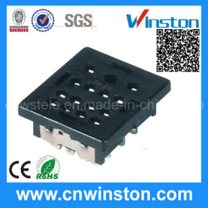 Miniature Square Type PCB Mouting Electro-Magnetic Power Relay Socket pictures & photos