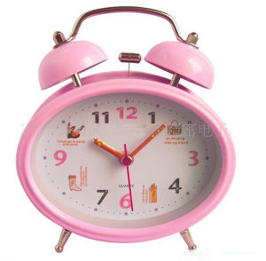 Wholesale Logo Printed OEM Design Table Alarm Clock pictures & photos