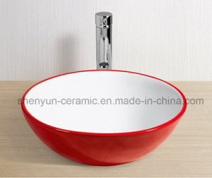 Ceramic Wash Basin Bathroom Color Basin (MG-0053) pictures & photos