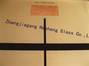 6mm Golden Printing Tempered Glass for Scale Surface pictures & photos