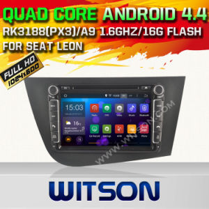 Witson Android 4.4 Car DVD for Seat Leon with Quad Core Rockchip 3188 1080P 16g ROM WiFi 3G Internet Font DVR Picture (W2-F9240ER) pictures & photos