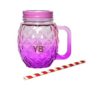 Wholesale High Quality Colorful Glass Mason Jar with Straw pictures & photos