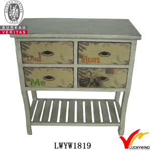 Handmade Wooden 4 Drawers Retro Sideboard Antique pictures & photos
