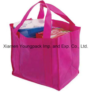 Hot Pink Promotional Non Woven Fabric Reusable Grocery Supermaket Bag pictures & photos