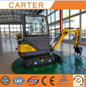 CT18-9ds (cabin&retractable chassis) Hydraulic Backhoe Mini Digger pictures & photos