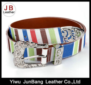New Design Contrast Color Woman Webbing Belt