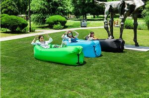 Outdoor Travel/Camping/Beach Ufesul Foldable Waterproof Inflatable Air Sleeping Sofa Sleeping Air Bag Hangout