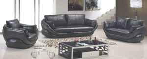 European Modern Classics Black Leather Sofa pictures & photos
