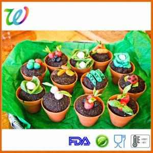 Factory Wholesale Plant Pot Big Silicone Cupcake Pan pictures & photos