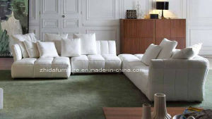 High Class Modern Style Living Room Sectional Fabric Sofa (MS1102) pictures & photos
