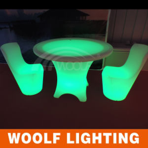 Party Event RGB Color Changeable LED Plastic Coffee Table pictures & photos