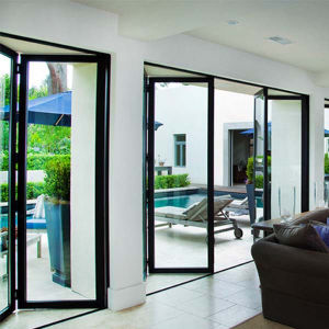 House Design Tempered Glass Aluminium Door Glass Folding Doors pictures & photos