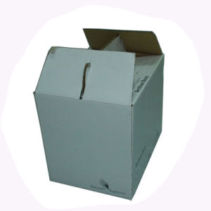 Partable Paper Packing Box with Handle pictures & photos