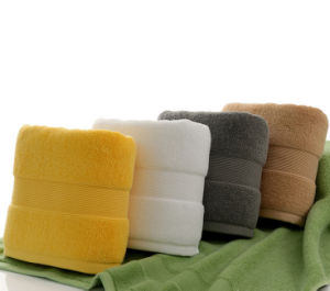 High Quality 100% Cotton Hotel Bathroom Bath Towel Factory pictures & photos