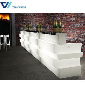 White Corian LED Modern Restaurant Bar Counter pictures & photos