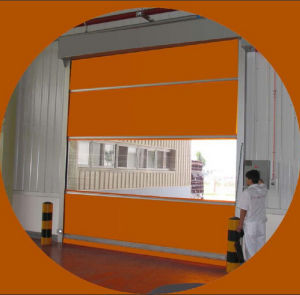 High Speed PVC Rolling Shutter Industrial Door with Stainless Steel Frame pictures & photos