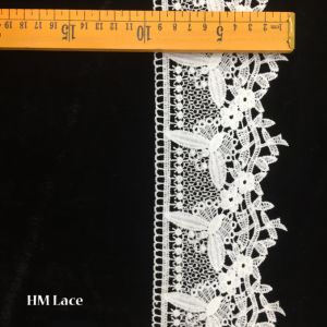 9.5cm Princess White Trimming Lace with Mesh Butterfly and Eyelet Hmw6220 pictures & photos