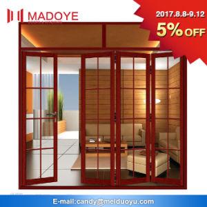 Folding Open Style Aluminum Glass Material Casement Door pictures & photos