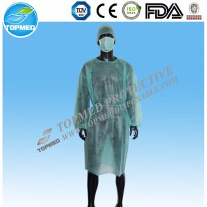 Medical Elastic Cuffs/Knitted Cuff Hot Sale Isolation Gown/Surgical Gown Cheap pictures & photos