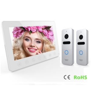 4 Wires 7 Inches Video Door Phone Home Security Intercom pictures & photos