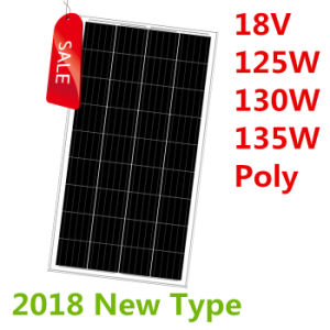 18V 125W-135W Poly Solar Panel (2018) pictures & photos